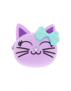 Claire's Cat Glitter Jelly Coin Purse 81343