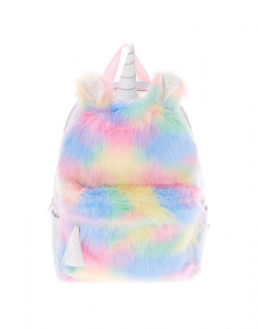 Claire's Fluffy Rainbow Backpack 90556