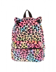 Claire's Soft Rainbow Leopard Backpack 88043