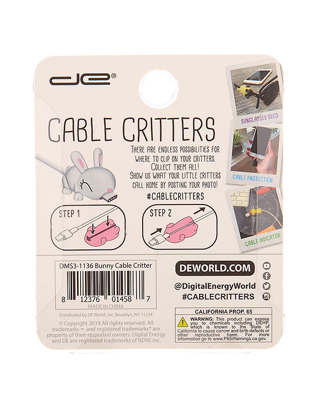 Accesoriu Tech Claire's Bunny Cable Critter 98721