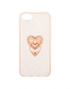 Claire's Rose Gold Heart Ring Stand Phone Case 90516