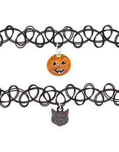 Claire's Halloween Tattoo Choker Necklaces 20980