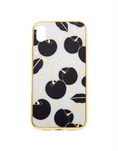 Claire's Black & White Cherry Protective Phone Case 35708