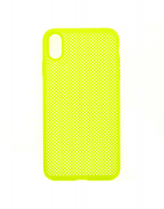 Claire's Neon Yellow Perforated Phone Case 51846