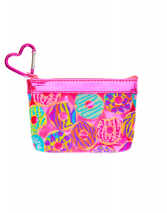 Claire's Neon Animal Donut Print Zip Coin Purse 20332