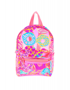 Claire's Neon Animal Donut Print Small Backpack 24720