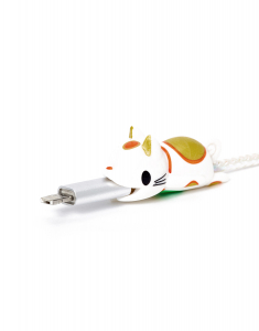 Claire's Lucky Cat Cable Critter 34389