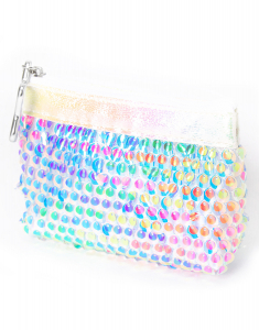Claire's Rainbow Iridescent Sequin Zip Coin Purse 59197