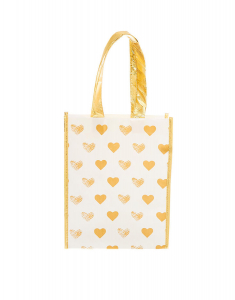 Claire's Golden Hearts Reusable Tote Bag 34647