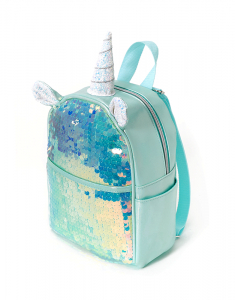 Claire`s Holographic Sequin Unicorn Small Backpack 24971