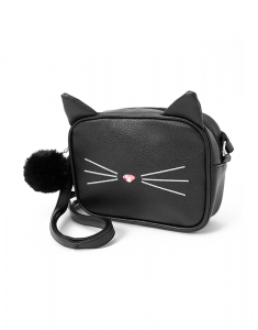 Claire`s Cat Face Crossbody Bag 61922