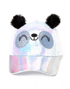 Claire`s Paige The Panda Holographic Sequin Trucker Hat 70452