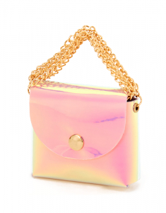 Claire`s Holographic Mini Purse Earbud Case Cover 32650