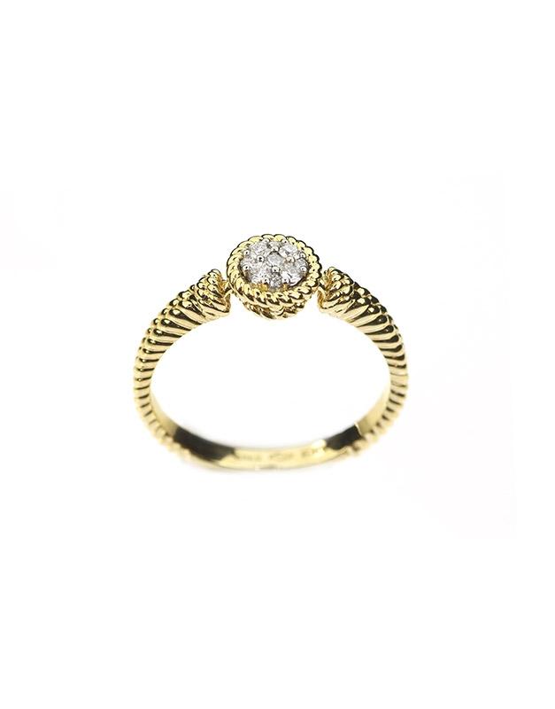 Inele de logodna Roberto Coin Baby Barocco ADR449RI0459YW