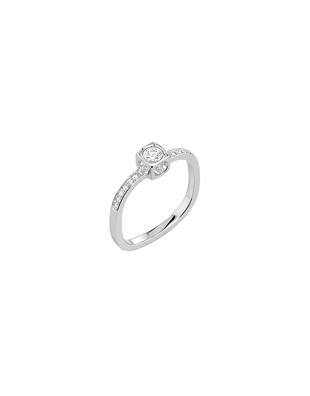 Inele de logodna Dinh Van Le Cube Diamant 208222-W