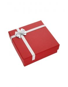 Cutiuta universala pentru bijuterii ET-5 U ROSU SI ARGINTIU