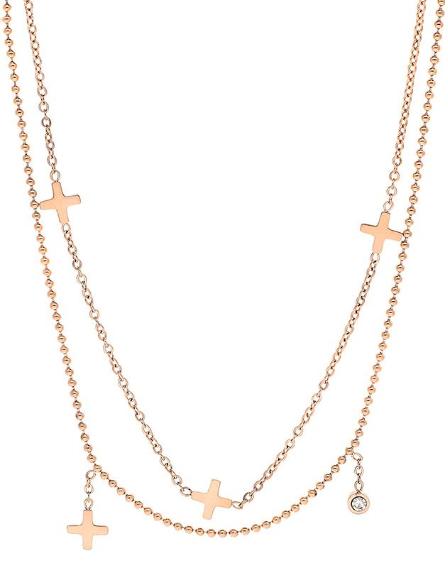 Coliere Zag Bijoux Pink SNX5852-14002WHT