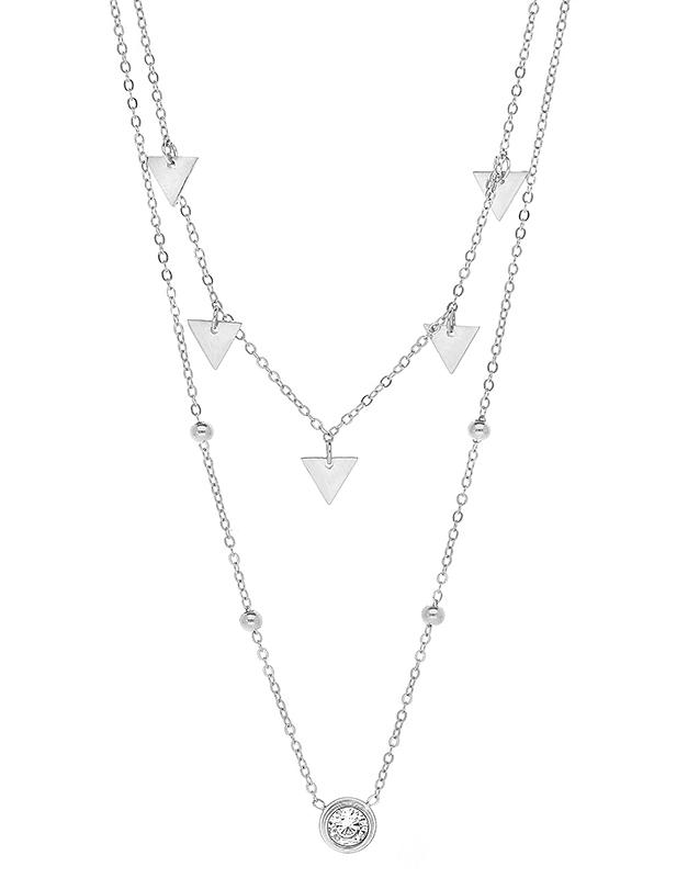 Coliere Zag Bijoux White SNX6077-09500WHT