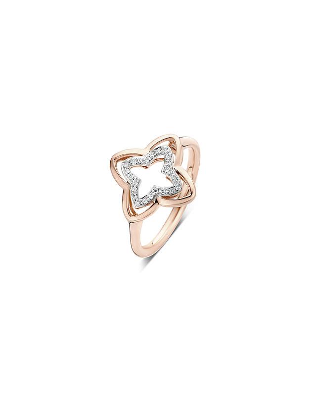 Inele Tirisi Jewelry Seoul Flower Due TR1143D-PW