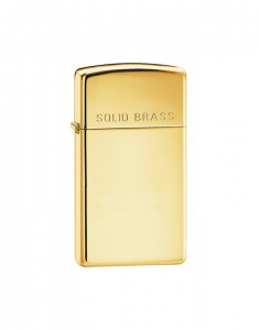 Zippo Slim High Polish Solid Brass 1654