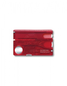 Victorinox Swiss Army Knvies Swiss Card Nailcare Ruby Translucent 0.7240.T