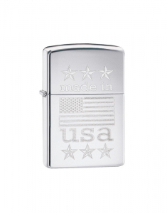 Zippo Classic Made in USA with Flag 29430