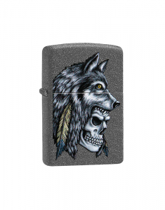 Zippo Special Edition Wolf Skull Feather Design 29863
