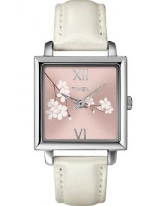 Timex® Elegant Square Cherry Blossom T2N129
