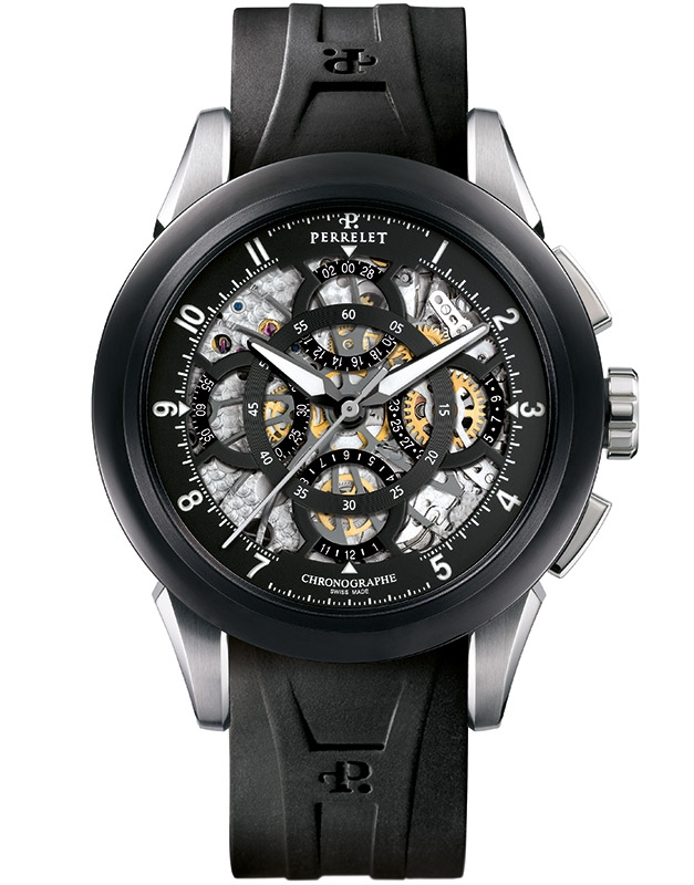 Обзор часов Perrelet Skeleton Chronograph. Часы дизайна Skeleton