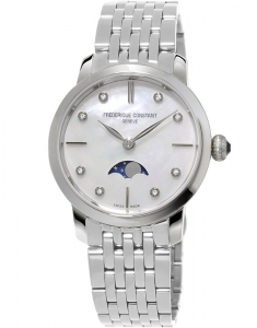 Frederique Constant Slimline Ladies Moonphase FC-206MPWD1S6B