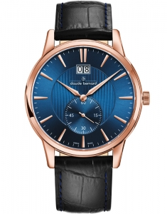 Claude Bernard Classic Big Date Small Second 64005 37R BUIR