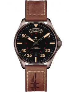 Hamilton Khaki Aviation Khaki Pilot Day Date H64605531