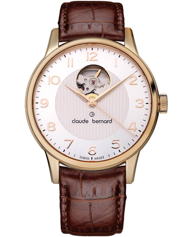 Claude Bermard Classic Automatic Open Heart 85017 37R ABR