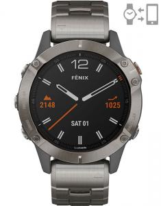Garmin Fēnix® 6 Sapphire Titanium Gray 010-02158-23