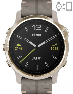 Garmin Fēnix® 6S Sapphire Light Gold set 010-02159-40