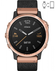 Garmin Fēnix® 6S Sapphire Rose Gold Black Nylon set 010-02159-37