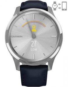 Garmin Vívomove® Luxe Silver Navy 010-02241-20