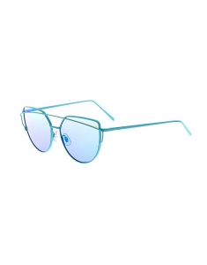 Claire's Blue Mirrored Cat Eye Sunglasses 49720