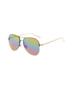 Claire's Rainbow Lens Rimless Aviator Sunglasses 49095