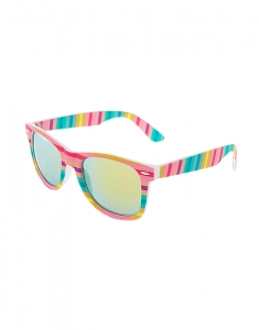 Claire's Pastel Striped Retro Frame Sunglasses 79725