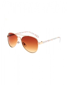 Claire's Kids Rainbow Polka Dot Aviator Sunglasses 30915