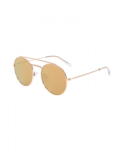 Claire's Rose Gold-Tone Round Aviator Sunglasses 79282