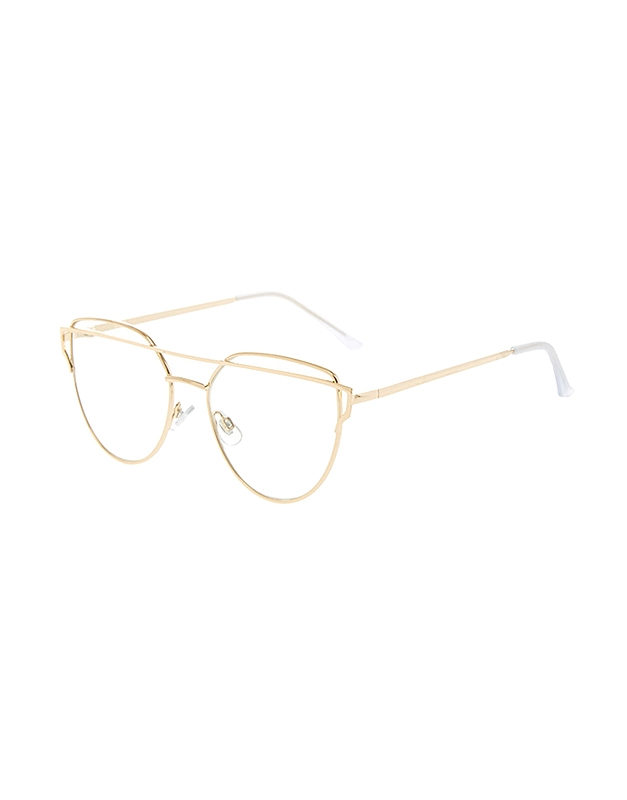 Claire's Gold Brow Bar Fake Glasses 40896