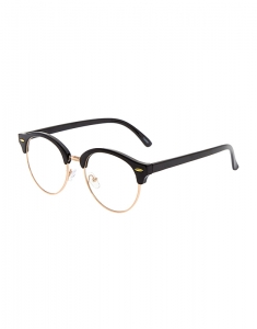 Claire's Rose-Gold Tone & Black Retro Glasses 88345