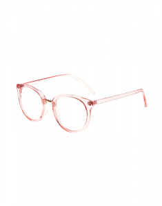 Claire's Clear Pink Round Fake Glasses 6324